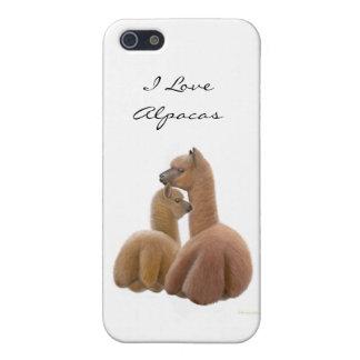 Caso del iPhone adaptable de la alpaca y de Cria iPhone 5 Funda