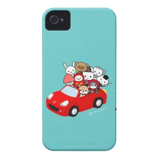 caso del iPhone - AllCharacters - RedCar Funda Para iPhone 4 De Case-Mate