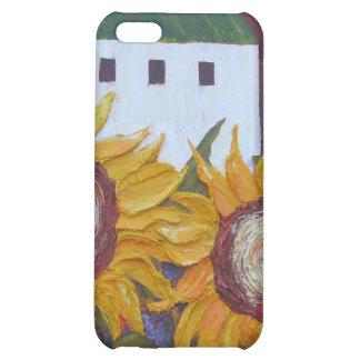 Caso del iPhone amarillo 4 del girasol y del grane