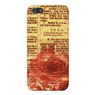 Caso del iPhone antiguo 4 de los salmos y de los iPhone 5 Carcasas