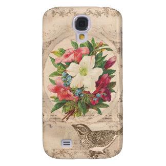 Caso del iPhone antiguo bonito 3 de las flores y d