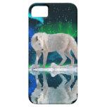 Caso del iPhone ártico blanco 5 del lobo y de la a iPhone 5 Cárcasa