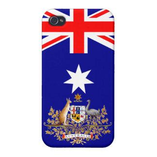 Caso del iPhone australiano de la bandera y del es iPhone 4/4S Carcasa