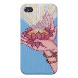 CASO del iPHONE - bendiciones de Lotus iPhone 4 Coberturas