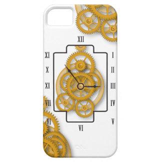 caso del iPhone con el reloj y los engranajes iPhone 5 Carcasa