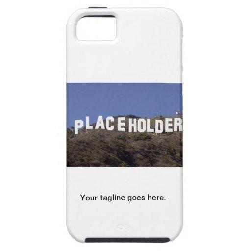 caso del iphone con imagen y tagline iPhone 5 carcasas