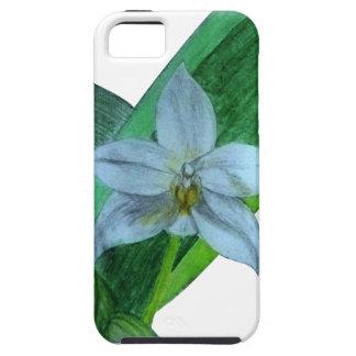 caso del iPhone con la orquídea terrestre blanca iPhone 5 Carcasa
