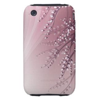 caso del iPhone con las ramas del sauce del flor iPhone 3 Tough Coberturas