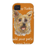 caso del iPhone con Yorkie iPhone 4/4S Funda