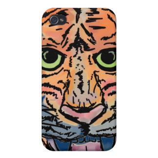 Caso del iphone cuatro del tigre iPhone 4/4S carcasa