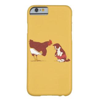 Caso del iPhone CURIOSO 6 del CAT Y de CHOOK Funda Para iPhone 6 Barely There