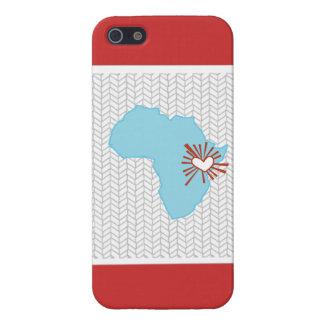 Caso del iPhone de Chevron del amor del corazón de iPhone 5 Carcasa