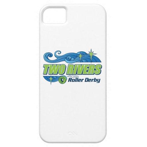 Caso del iPhone de Derby del rodillo de dos ríos iPhone 5 Protectores