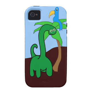Caso del iPhone de Dinoriffic - Dino lindo y pájar Vibe iPhone 4 Carcasas