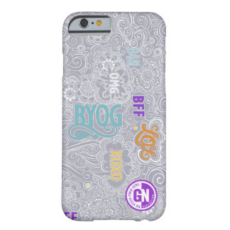 Caso del iPhone de DoodleChat - gris Funda Barely There iPhone 6