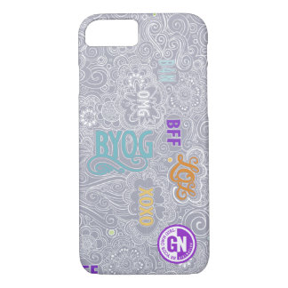 Caso del iPhone de DoodleChat - gris Funda iPhone 7