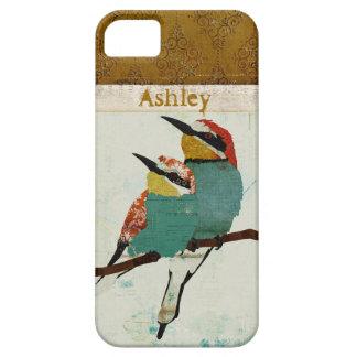 Caso del iPhone de dos pequeño pájaros Funda Para iPhone 5 Barely There