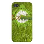 Caso del iPhone de EcoDaisy iPhone 4 Protectores