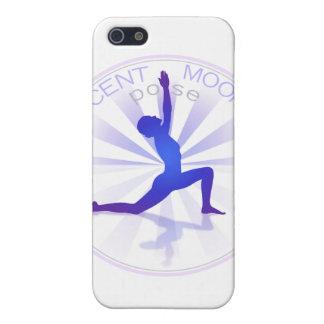 Caso del iPhone de la actitud de la yoga (actitud  iPhone 5 Protectores