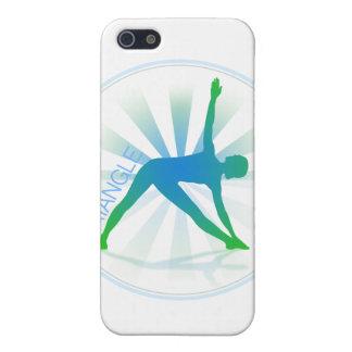 Caso del iPhone de la actitud de la yoga (triángul iPhone 5 Cárcasas