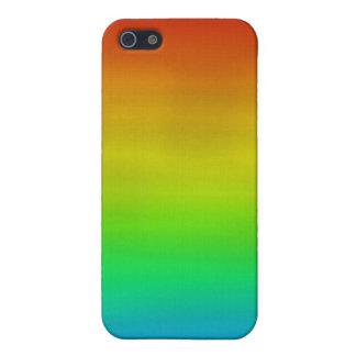 Caso del iPhone de la acuarela del arco iris iPhone 5 Carcasa