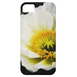 caso del iphone de la amapola blanca funda para iPhone 5 barely there
