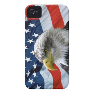 Caso del iPhone de la bandera americana de Eagle Funda Para iPhone 4