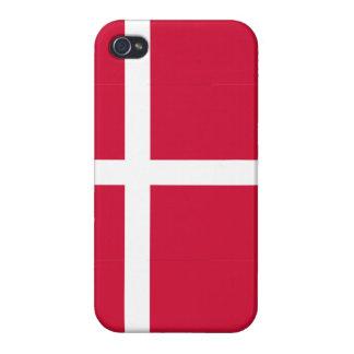 Caso del iPhone de la bandera de Dinamarca iPhone 4 Funda