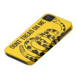Caso del iPhone de la bandera de Gadsden Case-Mate iPhone 4 Protector
