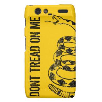 Caso del iPhone de la bandera de Gadsden Droid RAZR Carcasa