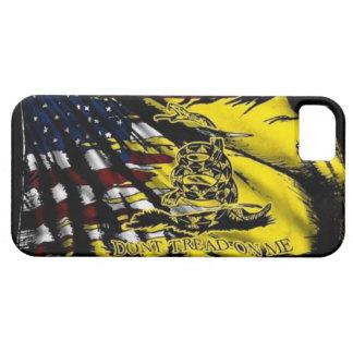 Caso del iPhone de la bandera de Gadsden iPhone 5 Fundas