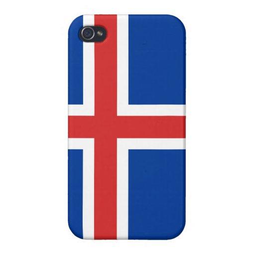 Caso del iPhone de la bandera de Islandia iPhone 4 Carcasa