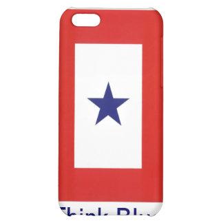 Caso del iPhone de la bandera de la estrella azul