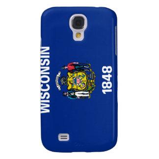 Caso del iPhone de la bandera del estado de Wiscon Funda Para Samsung Galaxy S4
