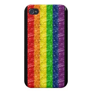 Caso del iPhone de la barra del arco iris iPhone 4 Funda