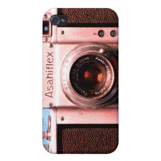 Caso del iPhone de la cámara de Asahiflex del vint iPhone 4 Carcasas