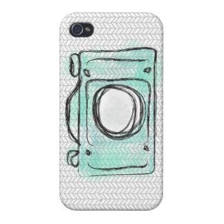 Caso del iPhone de la cámara de la acuarela de la  iPhone 4 Carcasa