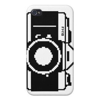 Caso del iPhone de la cámara del arte del pixel iPhone 4 Carcasas