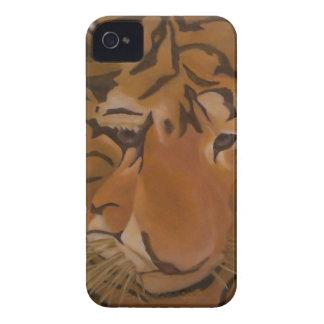 Caso del iphone de la cara del tigre iPhone 4 Case-Mate cobertura