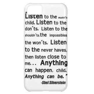 Caso del iPhone de la cita de Shel Silverstein