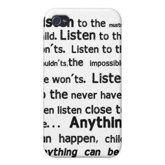 Caso del iPhone de la cita de Shel Silverstein iPhone 4 Carcasa