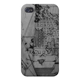 Caso del iPhone de la ciudad del polvillo radiacti iPhone 4/4S Carcasas