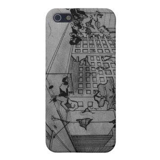 Caso del iPhone de la ciudad del polvillo radiacti iPhone 5 Carcasa