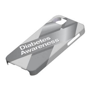 Caso del iphone de la conciencia de la diabetes iPhone 5 carcasas