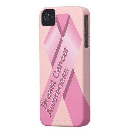 Caso del iphone de la conciencia del cáncer de iPhone 4 Case-Mate fundas