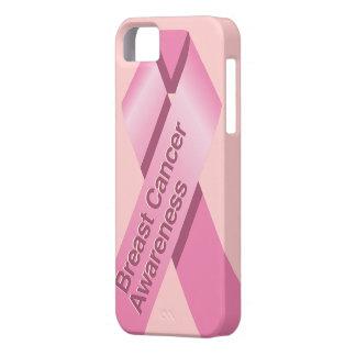 Caso del iphone de la conciencia del cáncer de funda para iPhone 5 barely there