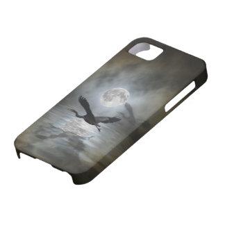 Caso del iPhone de la fantasía de la luna de la iPhone 5 Fundas