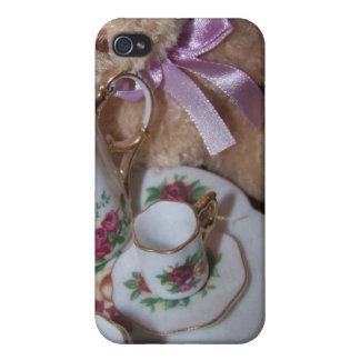 caso del iphone de la fiesta del té iPhone 4/4S carcasas