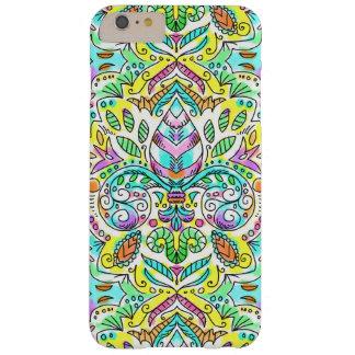 caso del iPhone de la flor de lis de la primavera Funda Para iPhone 6 Plus Barely There