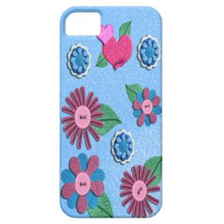 Caso del iPhone de la flor del fieltro iPhone 5 Funda